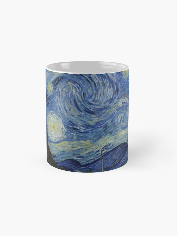 Alternate view of Starry Night Oil painting by Vincent van Gogh Mug