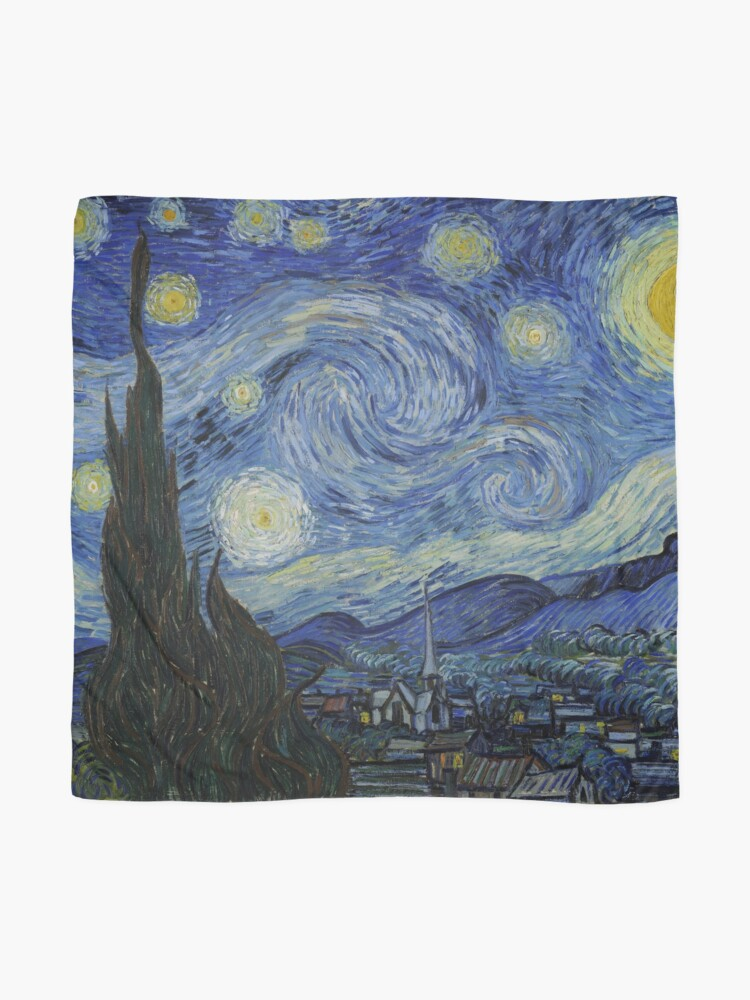 Alternate view of Starry Night Oil painting by Vincent van Gogh Scarf