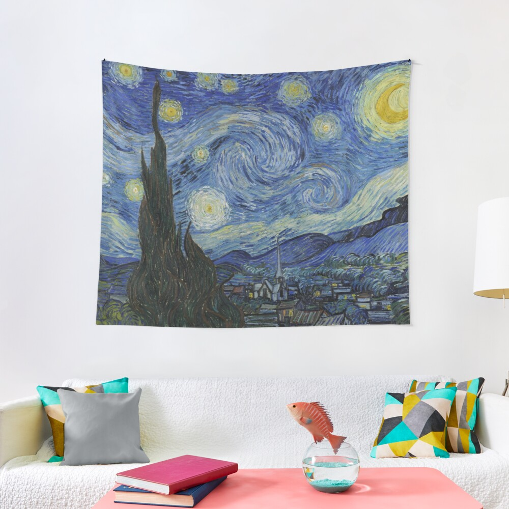Starry Night Oil painting by Vincent van Gogh Tapestry