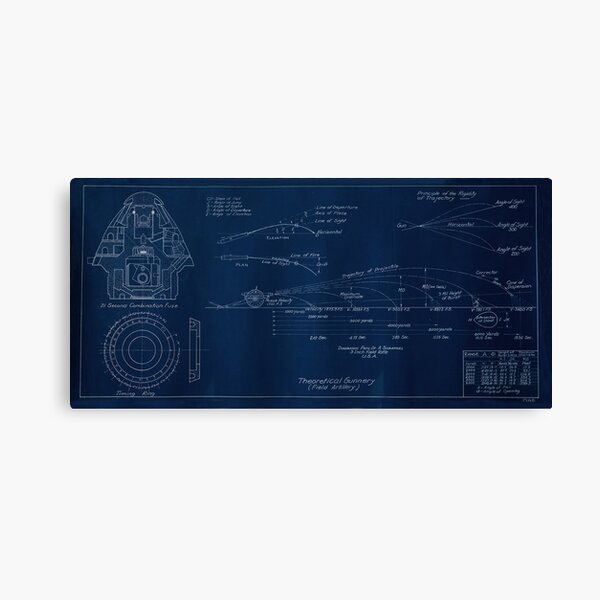3 In. Field Rifle, Combination Fuse Drawing Canvas Print