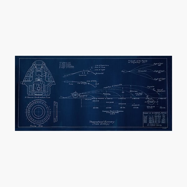 3 In. Field Rifle, Combination Fuse Drawing Photographic Print