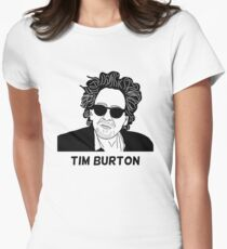 Tim Burton - Portrait Women's Fitted T-Shirt
