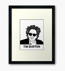 Tim Burton - Portrait Framed Print