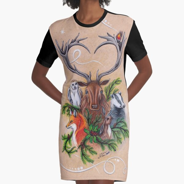 The Yuletide Brethren Graphic T-Shirt Dress