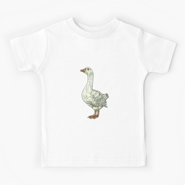 White Goose: Side View Kids T-Shirt