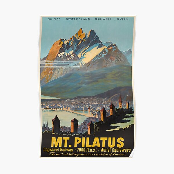 Mt.Pilatus,Switzerland,Ski Poster Poster
