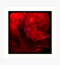 Ttv: Dirty Red Rose Art Print