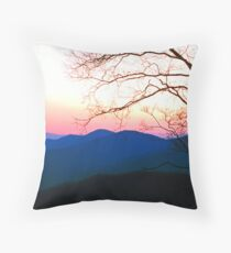 SMOKY MOUNTAIN SUNSET Throw Pillow