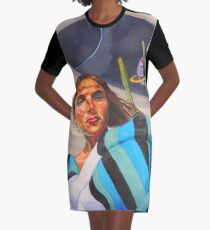 Planetary Peace (self portrait) Graphic T-Shirt Dress