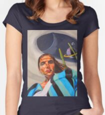 Planetary Peace (self portrait) Women's Fitted Scoop T-Shirt