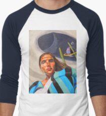 Planetary Peace (self portrait) Men's Baseball ¾ T-Shirt