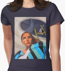 Planetary Peace (self portrait) Women's Fitted T-Shirt