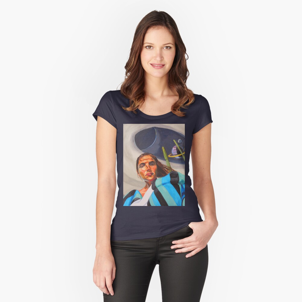 Planetary Peace (self portrait) Fitted Scoop T-Shirt
