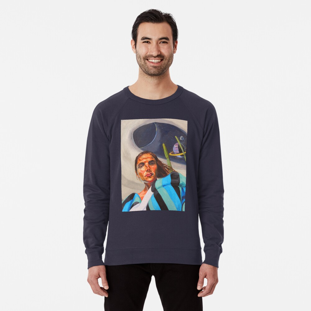 Planetary Peace (self portrait) Lightweight Sweatshirt