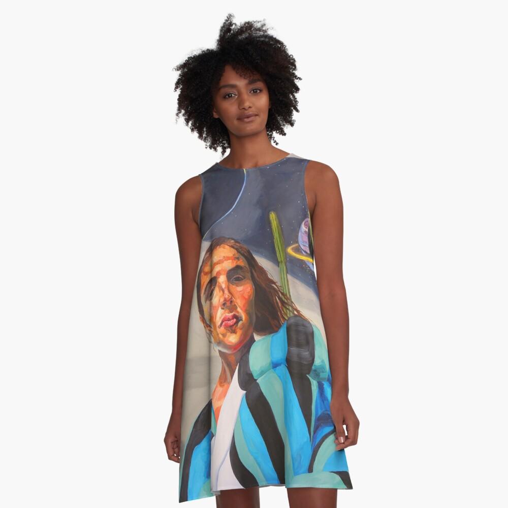 Planetary Peace (self portrait) A-Line Dress