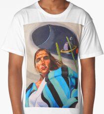 Planetary Peace (self portrait) Long T-Shirt