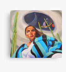 Planetary Peace (self portrait) Canvas Print