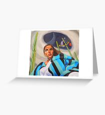 Planetary Peace (self portrait) Greeting Card