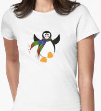 Winter Penguin Women's Fitted T-Shirt
