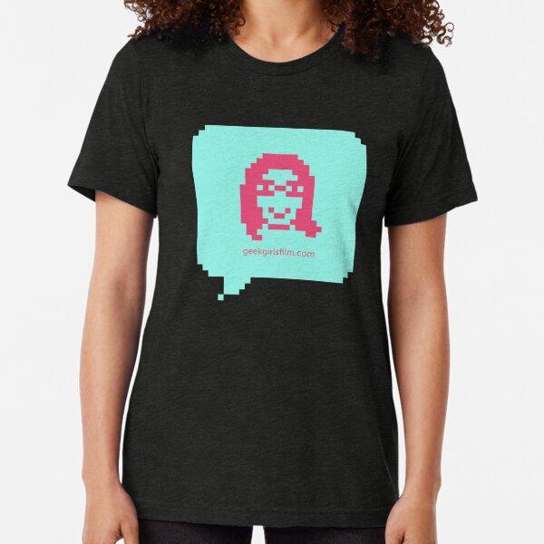 GEEK GIRLS - Gina Hara logo Tri-blend T-Shirt