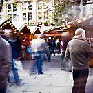 Busy Christmas market by Cvail73