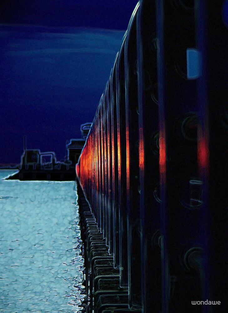Pier neon railings by wondawe