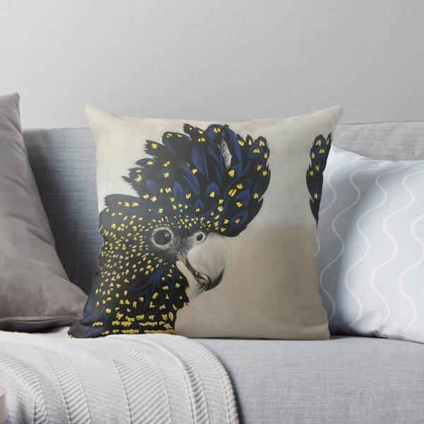 Black Cockatoo Throw Pillow