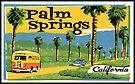Palm Springs California Vintage Travel Luggage  by MyHandmadeSigns