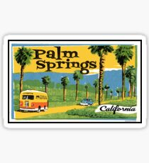 Palm Springs California Vintage Travel Luggage  Sticker