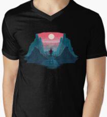 The Lone Knight Men's V-Neck T-Shirt