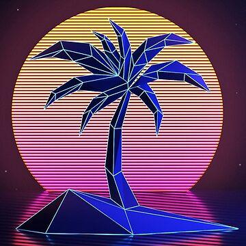 V A P O R W A V E palm tree by MACINTOSHMINUS