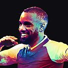 Colourful Lacazette by Mark White