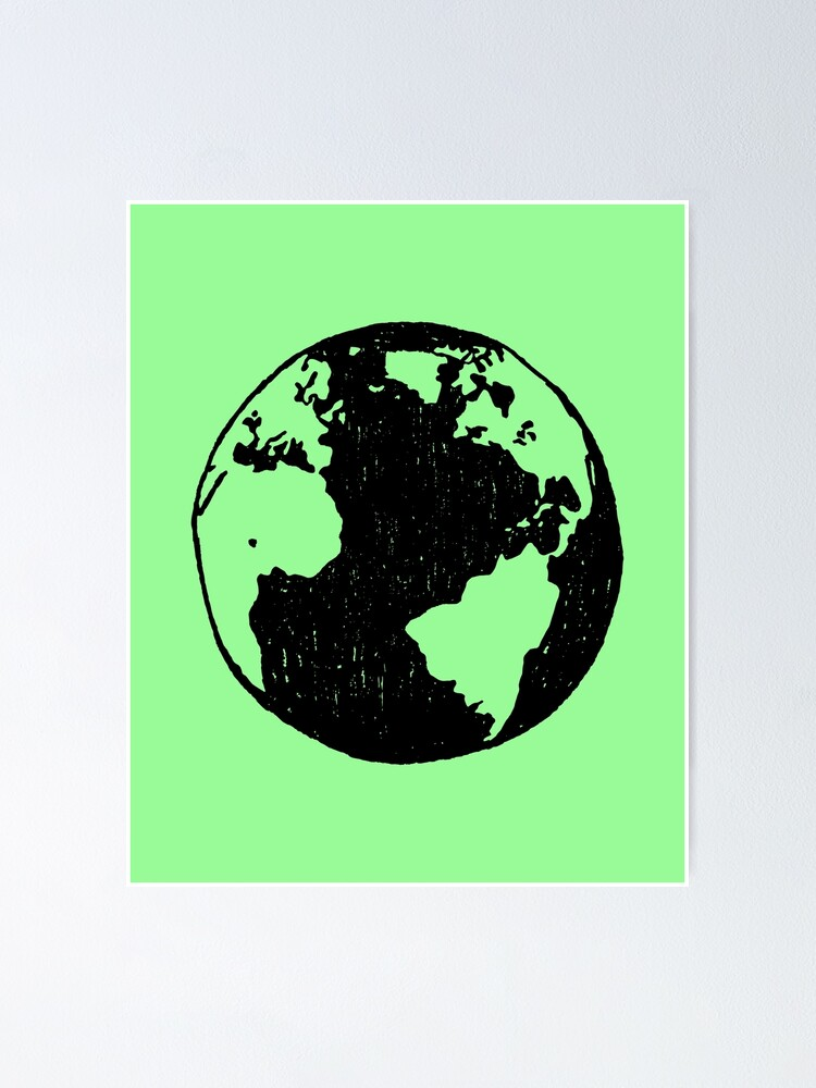 Alternate view of Planet Earth Poster