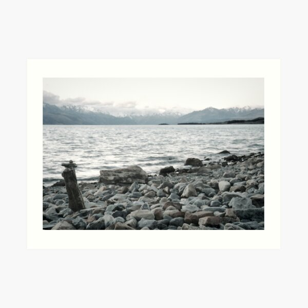 A rock to contemplate - New Zealand Art Print