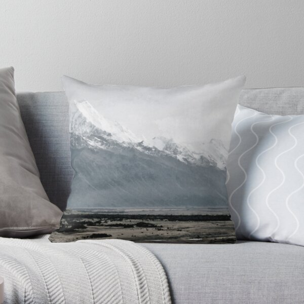 Mount Cook in mist - New Zealand  Throw Pillow