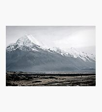 Mount Cook in mist - New Zealand  Photographic Print