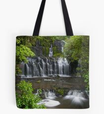 Purakaunui water falls, New Zealand Tote Bag