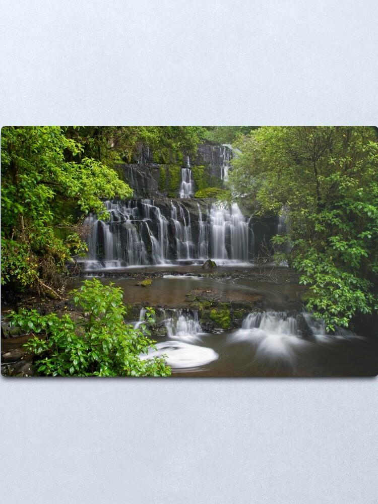 Alternate view of Purakaunui water falls, New Zealand Metal Print