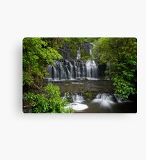 Purakaunui water falls, New Zealand Canvas Print
