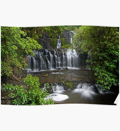 Purakaunui water falls, New Zealand Poster