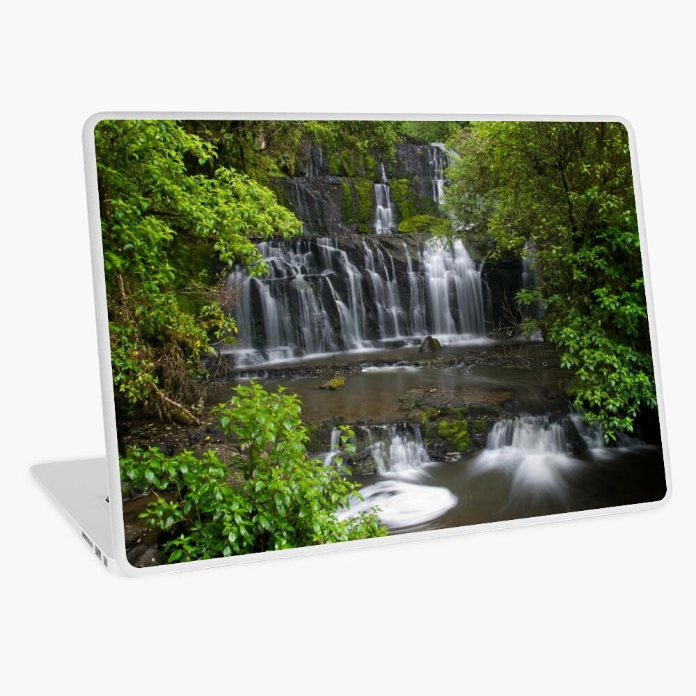 Purakaunui water falls, New Zealand Laptop Skin