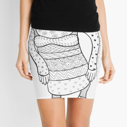 girly love-monster Mini Skirt