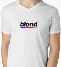 Underlined blond black Men's V-Neck T-Shirt