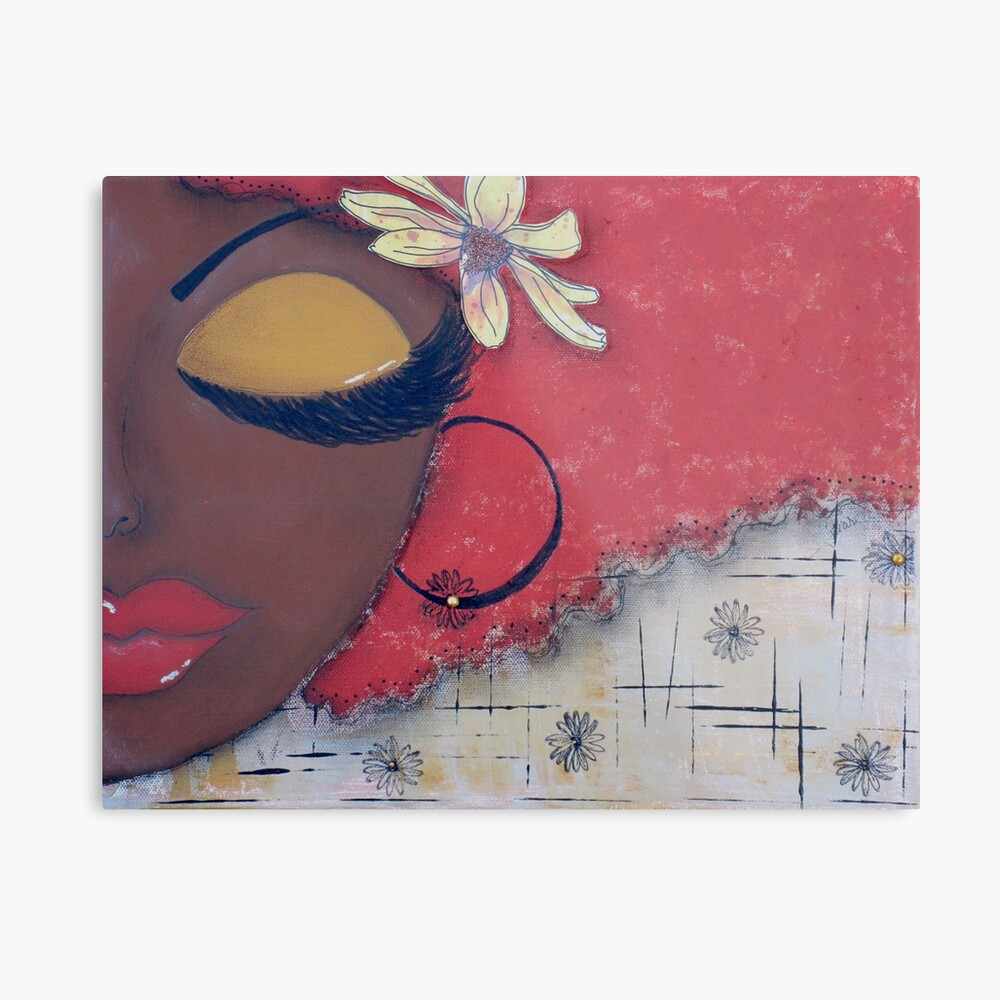Sassy Chocolate Girl, African American Metal Print