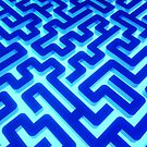 MAZE BLUE by lematworks