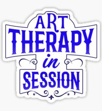 Art Therapy in Session Sticker