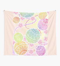 Colorful temari Wall Tapestry