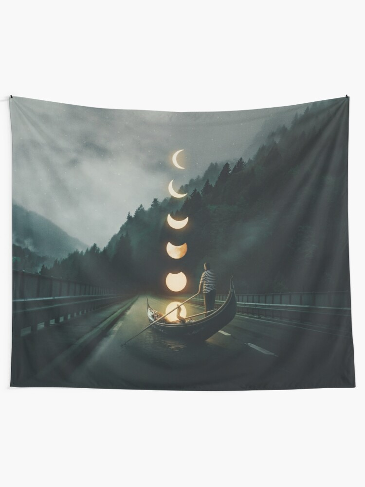 Alternate view of Moon Ride Tapestry