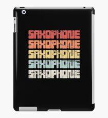 Vintage SAXOPHONE Text iPad Case/Skin