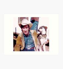 Townes Van Zandt and dog Art Print